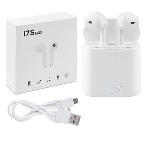 i7 BT Earbuds with charge base